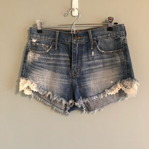Lacy high waisted shorts